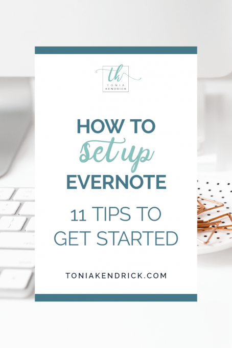 How to Set Up Evernote: 11 tips to get started - featured pin