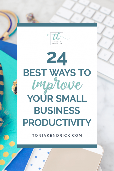 24 Best Ways To Improve Your Small Business Productivity - featured pin