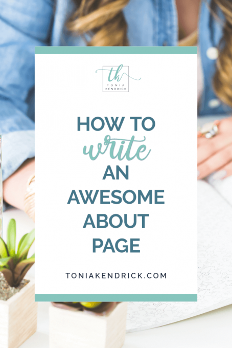 How to Write an Awesome About Page - featured pin