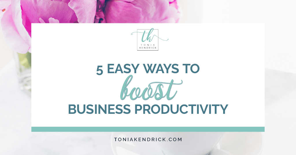 5 Easy Ways to Boost Your Business Productivity - featured image