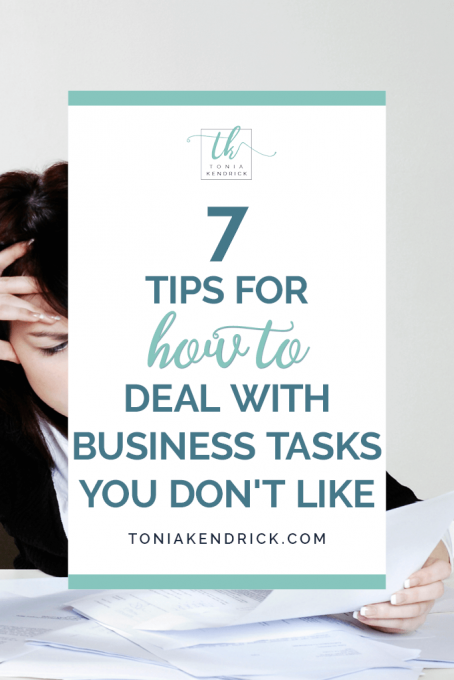 7 Tips for How to Deal with Business Tasks You Don't Like - featured pin