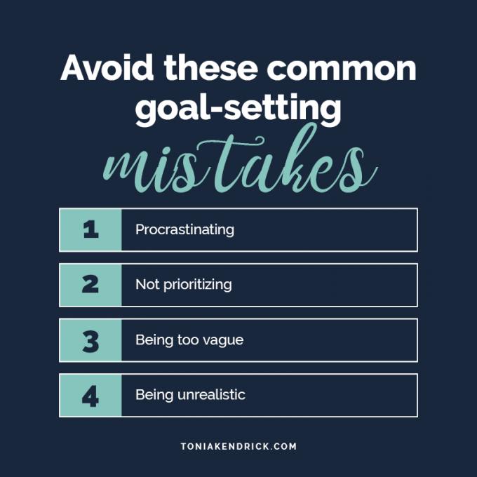 Avoid these common goal-setting mistakes