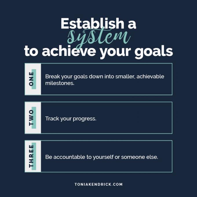 Establish a system to achieve your goals