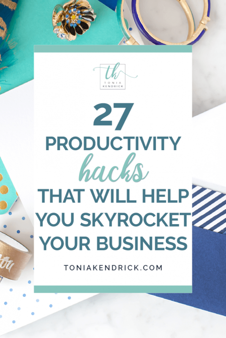 Productivity hacks - featured pin