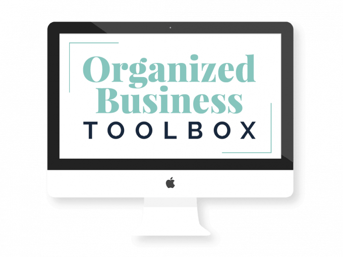 Organized Business Toolbox - monitor mockup