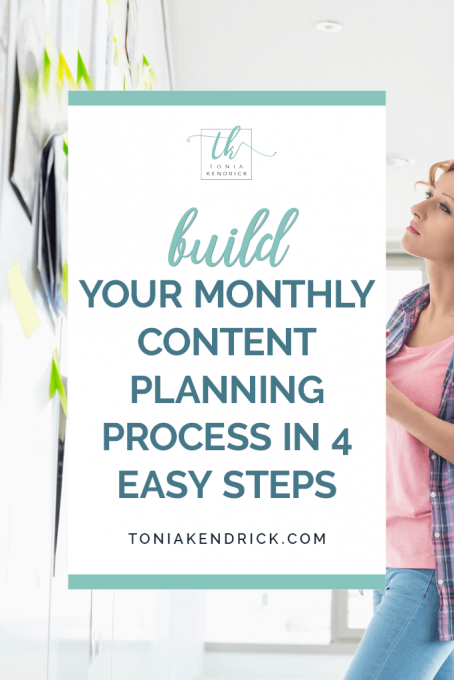monthly content planning process - featured pin