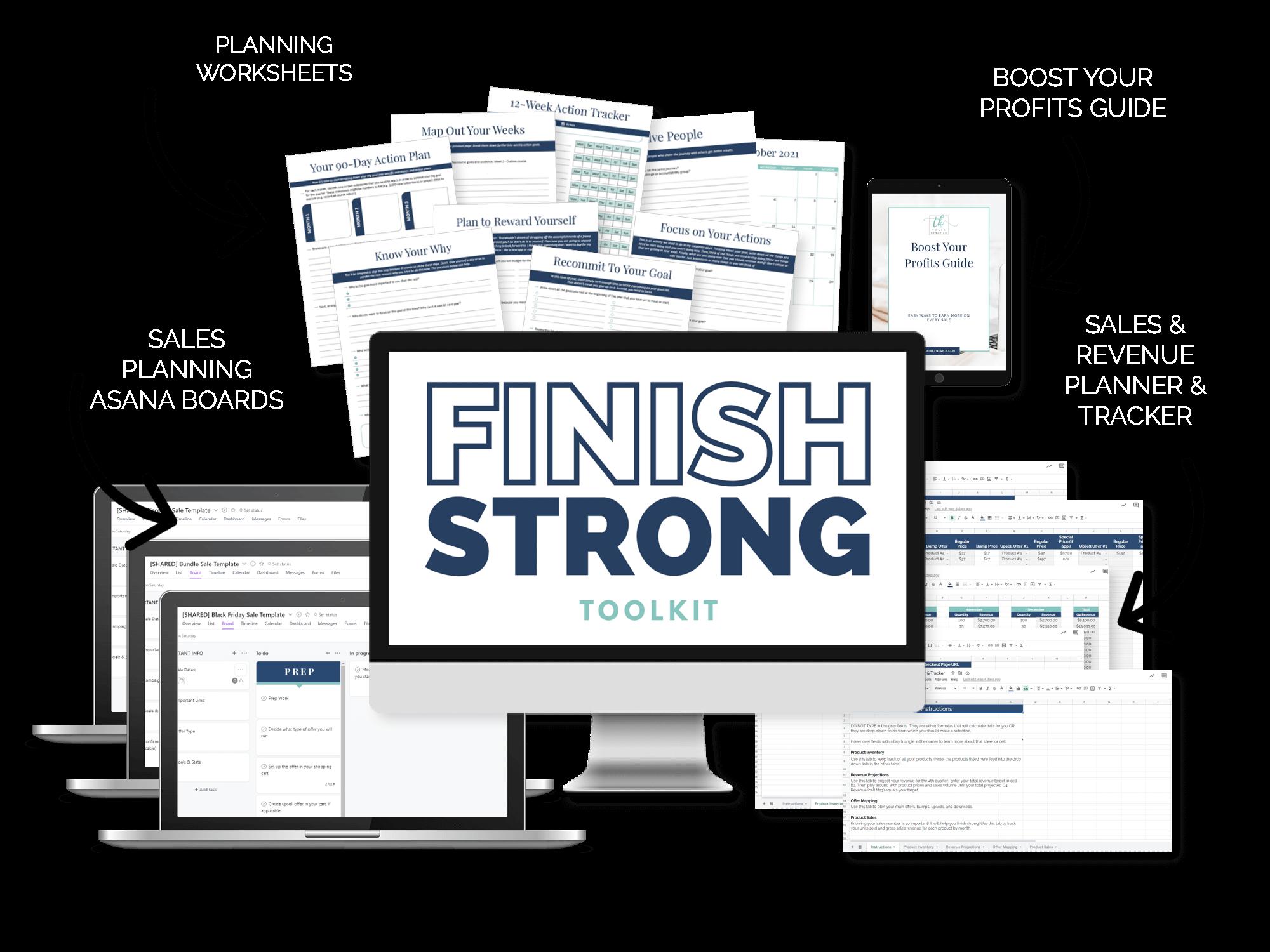 Finish Strong Toolkit mockup